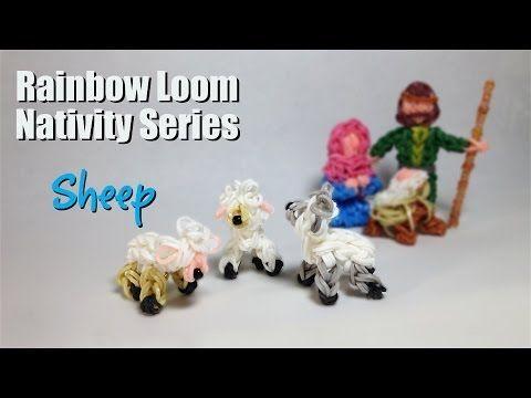 Rainbow Loom Nativity Series: Sheep