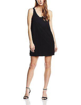Size 6 (Manufacturer Size:34), Black, Jacqueline de Yong Women's Adora Sleeveles