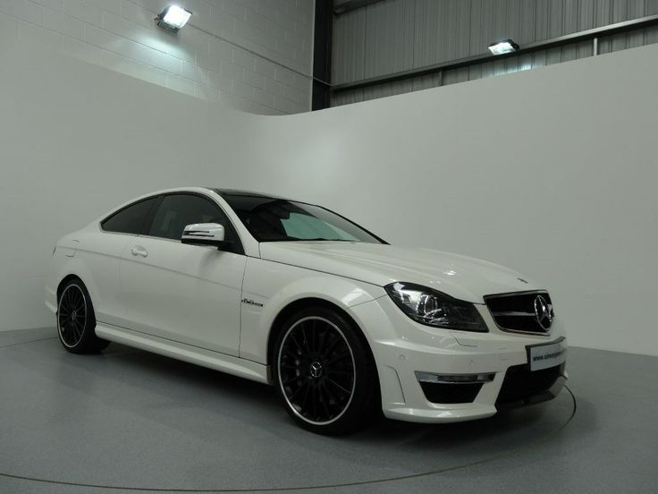 Mercedes Benz C63 Edition 125 AMG Coupe Finished In Diamond White With Black Designo Leather