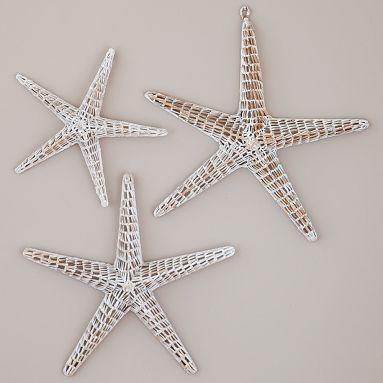 Good Silver Starfish Wall Decor