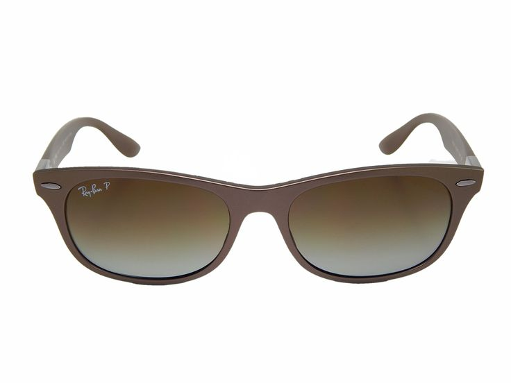 New Ray Ban Tech LiteForce RB4207 6033T5 Matte Brown/Grey Gradient Polarized 55mm Sunglasses.
