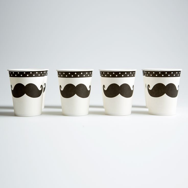 Moustache Paper Cups (8 pieces). Buy now here http://www.smallthings.gr/shop/dining-room-2/moustache-paper-cups-8-pieces/#.VL-rXy53AxI