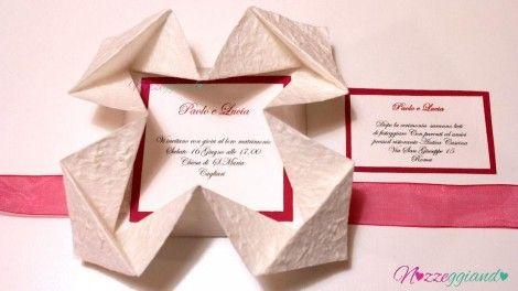 partecipazioni matrimonio fai da te con la tecnica origami
