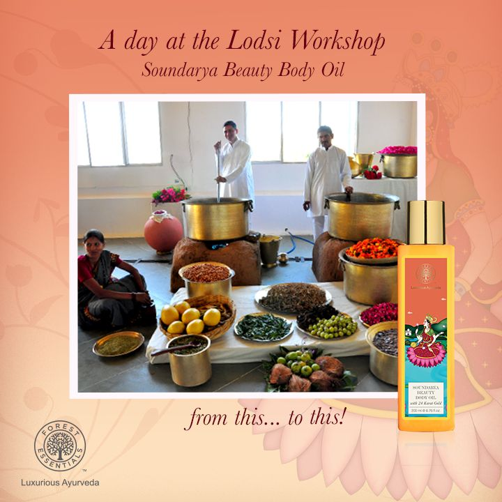 Here's a peep into a day at our Lodsi workshop, as we get busy creating the Soundarya Beauty Body Oil!  This is made using Organic Cold Pressed Oils, natural oils, milk, potent herb and flower infusions.