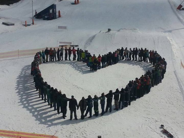 Afriski...Lesotho....heart in the snow.....