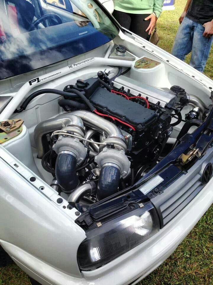 Longitudinally mounted twin turbo VR6 Mk3 | Wolfsburg | Vehicles, Motor car, Tuner cars