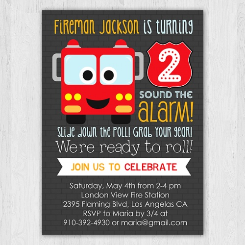 46 best images about Fire truck party – Fire Truck Party Invitations