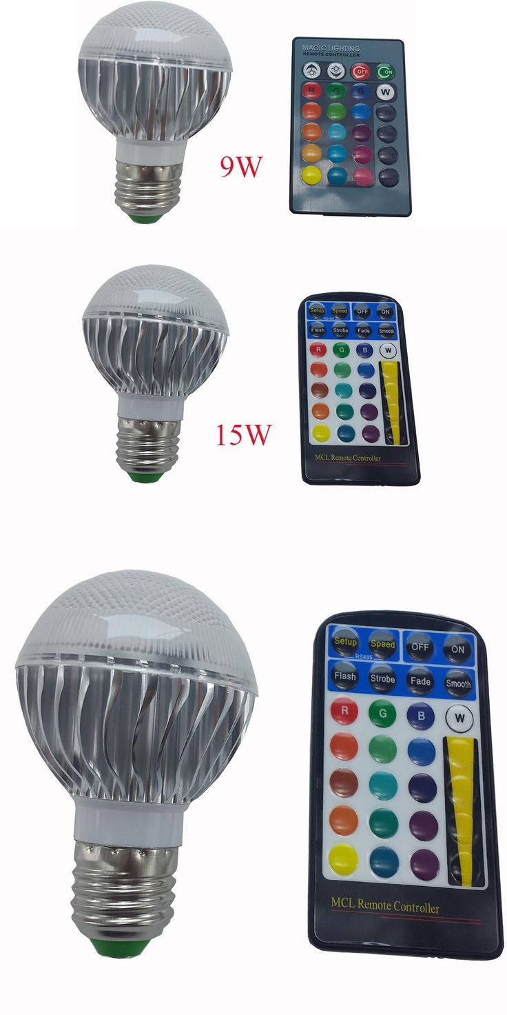 [Visit to Buy] 9W 15W E27 RGB LED Light 85-265V E27 LED RGB Lamp Lampada LED Bulb High Power Multiple Colors Change With IR Remote Controller #Advertisement