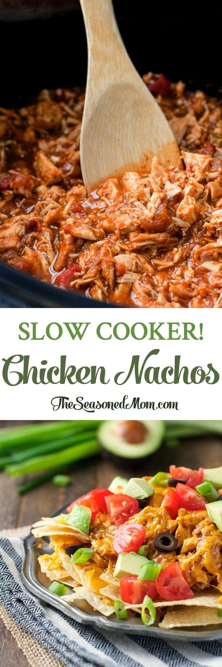 Slow Cooker Chicken Nachos