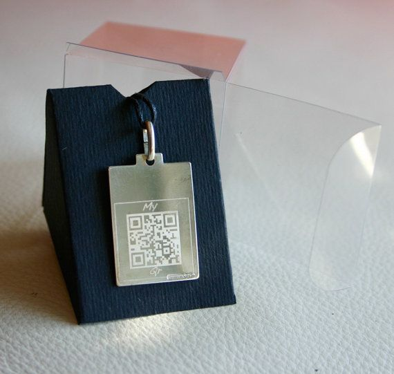 My-Qr ®  Silver Pendant Necklace by NEEDesign on Etsy