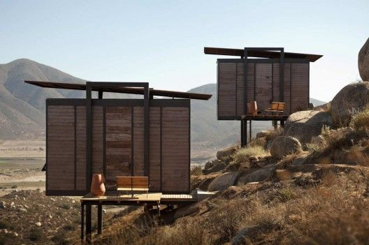 """Deluxe camping in Baja: Mexico's Wine Country ~~Endémico Resguardo Silvestre is a set of twenty independent rooms of twenty square meters each. The approach of the design of the room comes from the concept of a """"deluxe"""" camping house, covering the guest's basic needs, being in contact with nature and the environment."""" >>> Not sure it really qualifies as camping but it looks awesome!"""