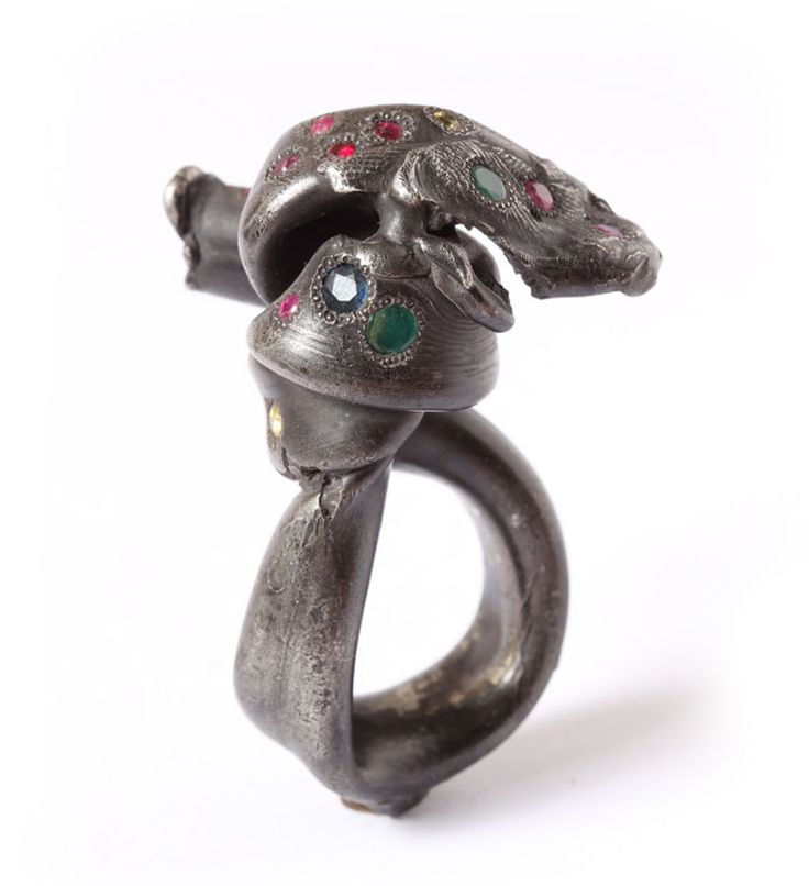 Karl Fritsch Ring: Untitled, 2015 Silver, rubies, emeralds