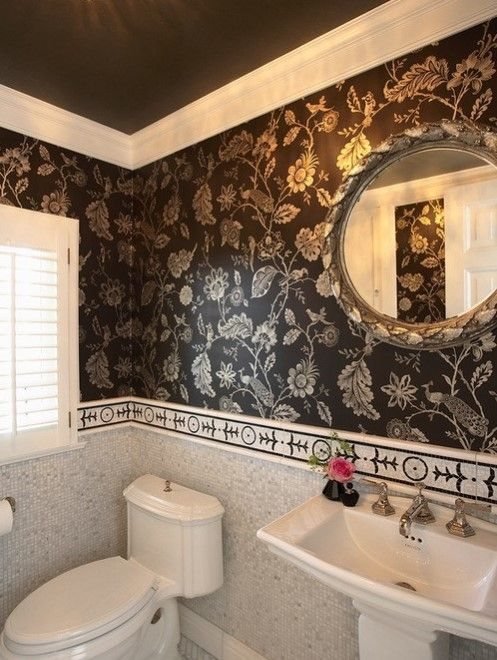 Superior Wallpaper Borders For Bathrooms