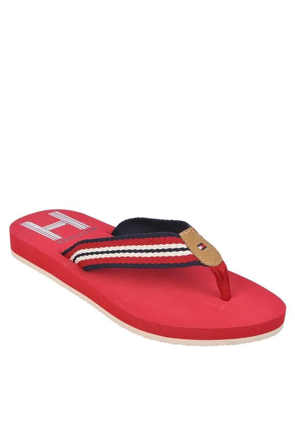 tommy hilfiger womens flip flop sandals red www. Black Bedroom Furniture Sets. Home Design Ideas