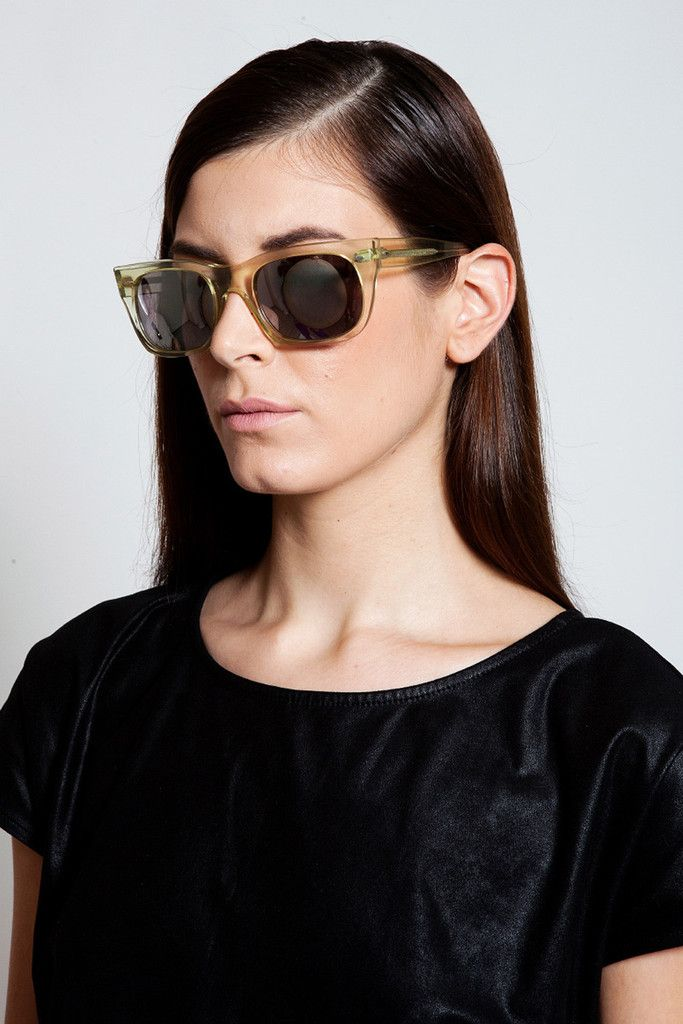 Handmade sunglasses by Deep Shallow Exposition, available only at www.ozonboutique.com