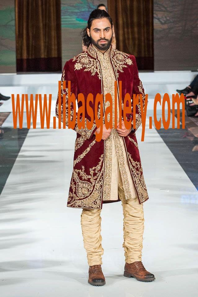 Maroon Velvet Sherwani for Wedding 2017 #Sherwani #SherwaniSuit #FPW10 #PFW10 #FashionPakistanWeek #PakistanFashionWeek # #PakistanFashionWeek10 # #PakistanFashionWeek10London #London #london10 #Fashion #Week #Pakistan #PakistanFashionWeek #FashionPakistanWeek #WeddingSeason2017 #WeddingSeason #WeddingSeasonPakistan #BridalSeason #Bridaloutfits2017 #BridalOutfits #outfitterforBride #USA #UnitedStates #America #NewStyles #BridalFashion #StoryofBride #BridalBoutique  more on…