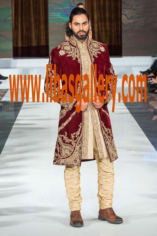Maroon Velvet Sherwani for Wedding 2017 #Sherwani #SherwaniSuit #FPW10 #PFW10 #FashionPakistanWeek #PakistanFashionWeek # #PakistanFashionWeek10 # #PakistanFashionWeek10London #London #london10 #Fashion #Week #Pakistan #PakistanFashionWeek #FashionPakistanWeek #WeddingSeason2017 #WeddingSeason #WeddingSeasonPakistan #BridalSeason #Bridaloutfits2017 #BridalOutfits #outfitterforBride #USA #UnitedStates #America #NewStyles #BridalFashion #StoryofBride #BridalBoutique  more on…