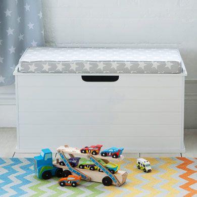 Toy Box Seat - Bright White