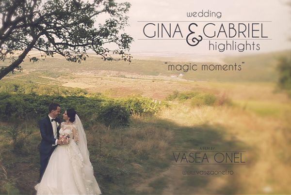 "Gina & Gabriel – wedding highlights – ""magic moments"""