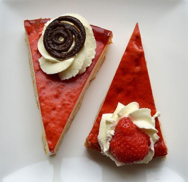 Kage, Mad, Jordbær, Chokolade, Sød, Dessert, Bageri