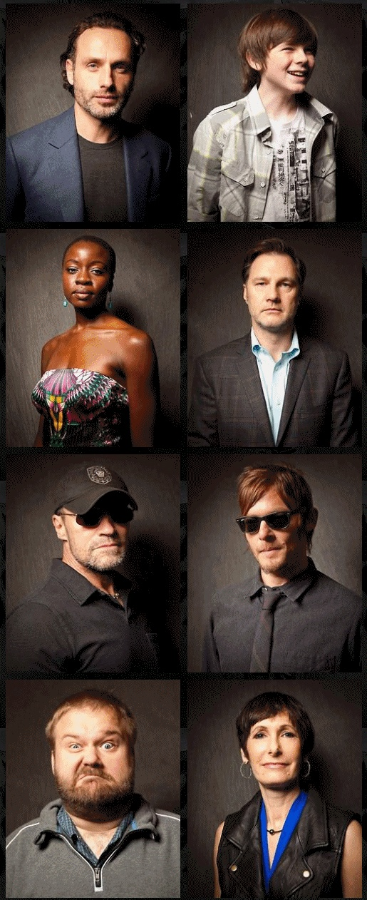 The Walking Dead- Andrew Lincoln, Chandler Riggs, Danai Gurira, David Morrissey, Michael Rooker, Norman Reedus, Robert Kirkman, Gale Anne Hurd