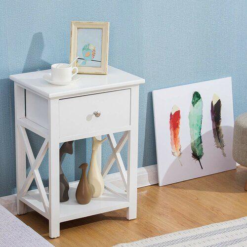 Brambly Cottage Stanhope 1 Drawer Bedside Table In 2019