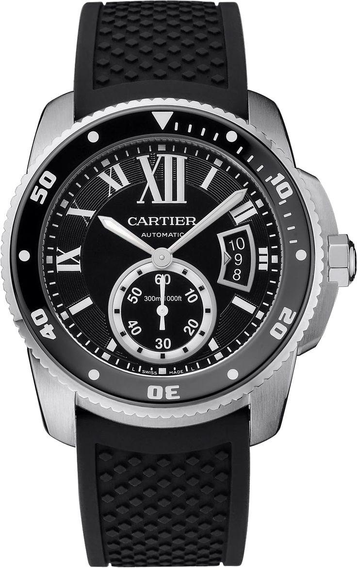 Calibre Cartier Diver Automatic blk rubb