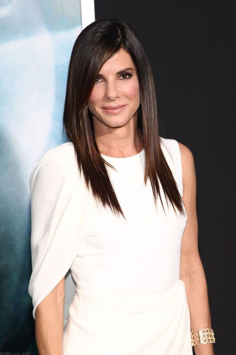 Sandra Bullock's amazing long layered haircut