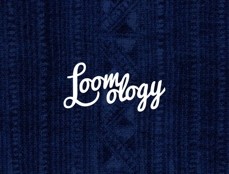 Logo Design - Loomology / Handcrafted framed textiles / Home Decor / Designed by Mimpy and Co.