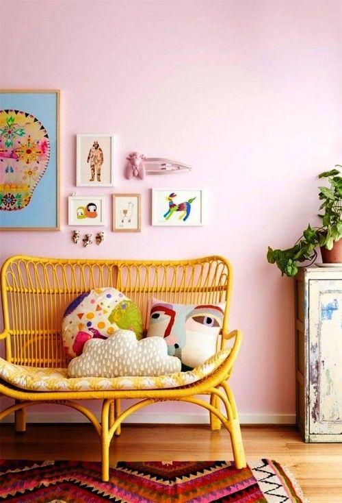 Weiblichkeit Im Interieur Durch Die Wandfarbe Altrosa Ausdrucken Wohnideen Und Dekoration Kinderzimmer Dekor Kinder Zimmer Kinderschlafzimmer