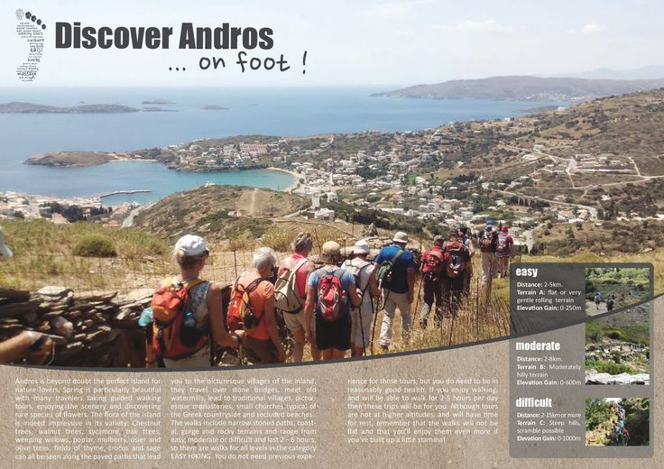 hiking in Andros, Cyclades!