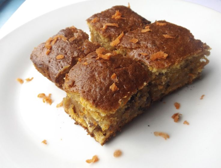 easy carrot and walnut recipe for a healthy way to enjoy a cake! :D