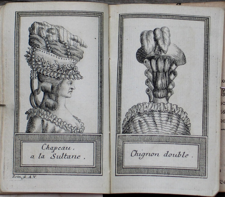 1770s German hair styles    http://mywabilife.blogspot.com/2011/04/18th-century-german-almanac.html