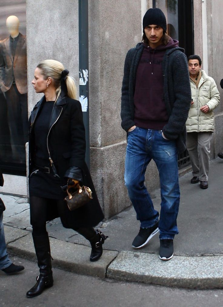 Zlatan Ibrahimovic out shopping In Milan.