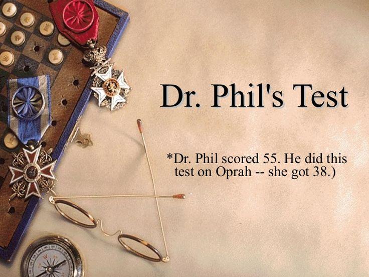 dr-phil-test-1670404 by VistaComm via Slideshare