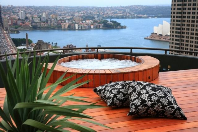 bain scandinave magnifique avec panorama, Sidney
