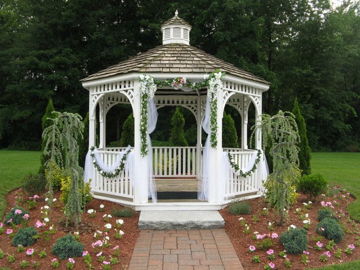 17 best images about gazebos on pinterest beach gardens for Outdoor wedding gazebo decorating ideas