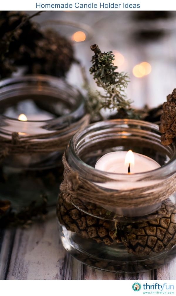 This is a guide about homemade candle holder ideas. You can create beautiful, original candle holders using a variety of new and recycled materials.