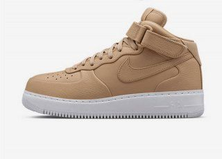 wholesale dealer 08dc7 11408 Nike NikeLab Air Force 1 Mid Vachetta Tan SP Acronym Flax Geiger 819677 200  Mens Womens Sneakers
