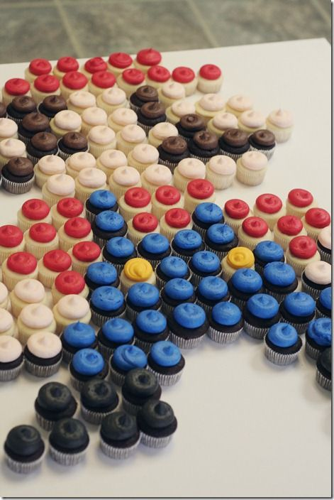 Mario cupcake video game birthday party
