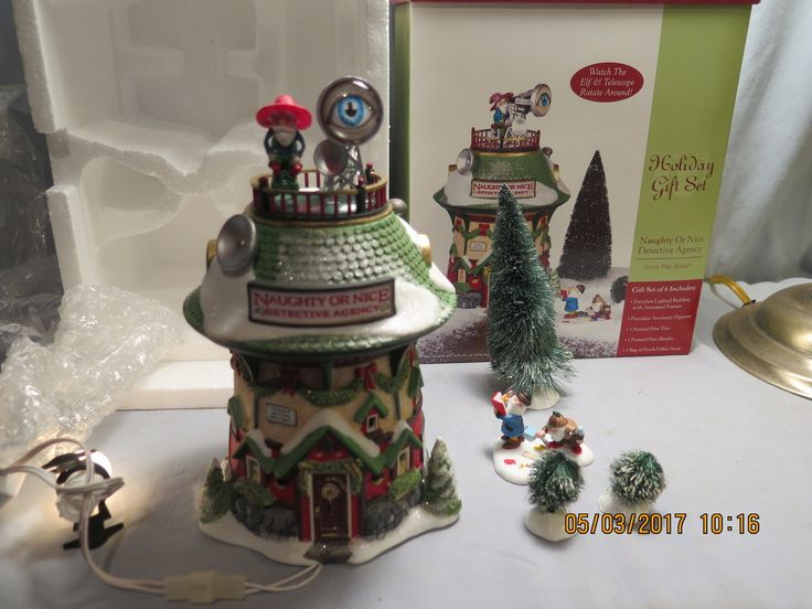 Department 56, 56.56758, North Pole Series, Naughty Or Nice Detective Agency, 2003