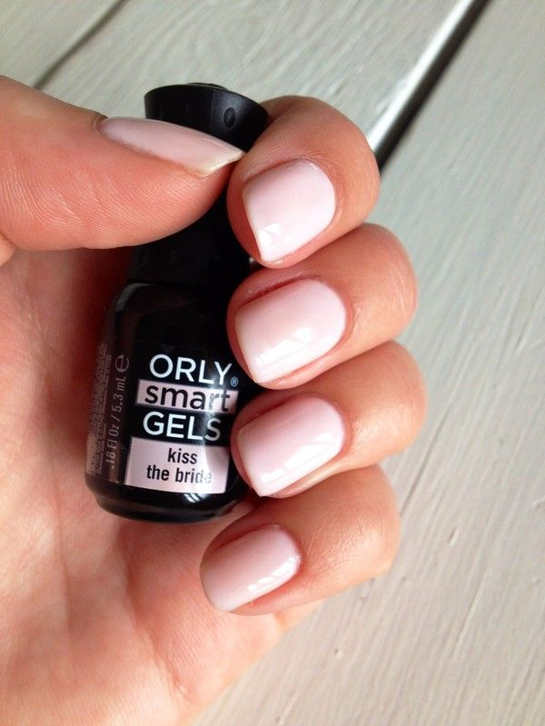Orly's Smart Gel in Kiss the Bride .... it's the perfect neutral pink for a #wedding or for Summer. #nails #manicure