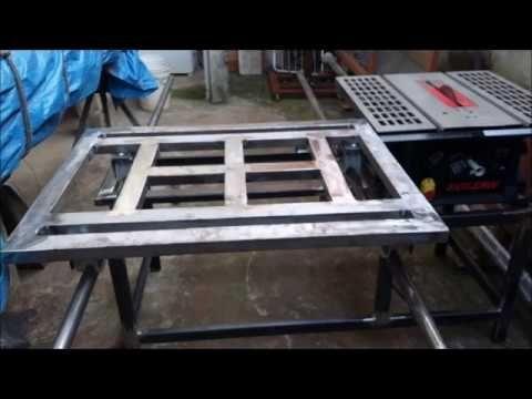 Transformando uma serra de bancada Skil em uma esquadrejadeira - YouTube