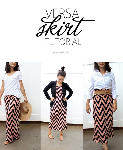 1 skirt 3 looks. Versa skirt sewing tutorial