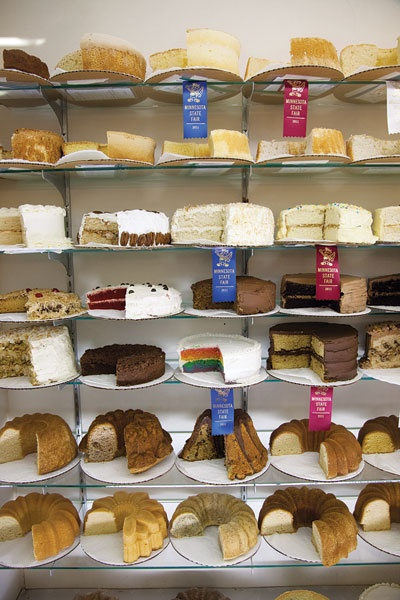 Competing cakes at the Minnesota State Fair. We want to go to there.