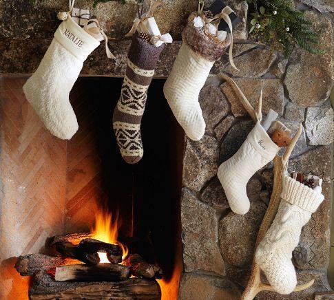 Fair Isle Knit Stocking | Pottery Barn