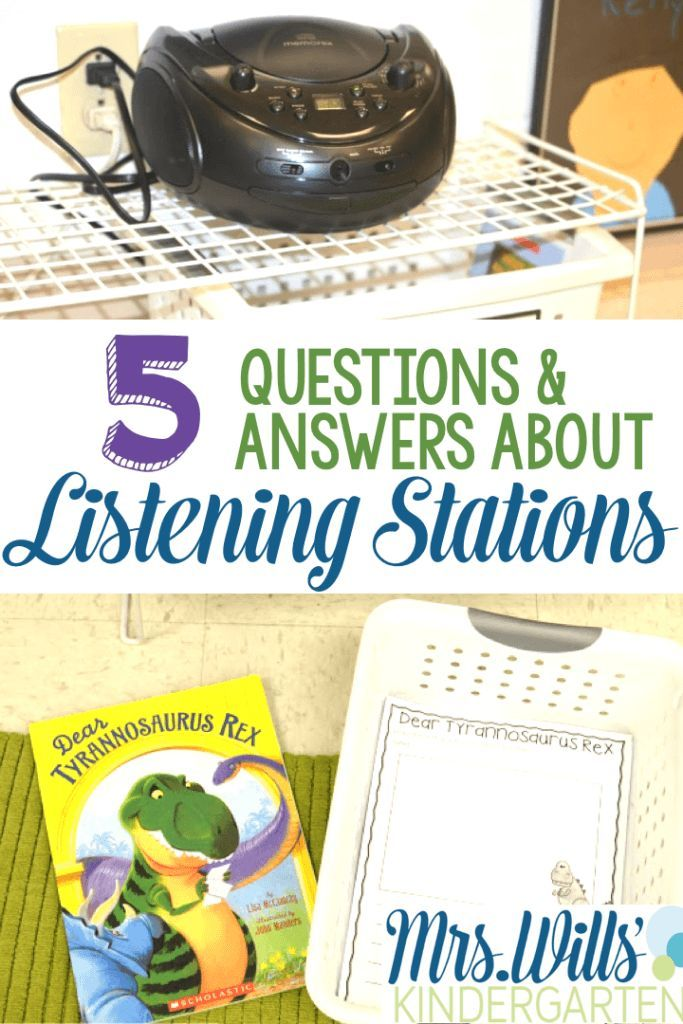 Looking for ideas for how to set up Kindergarten listening stations in your classroom? Check out these 5 tips for kindergarten listening stations or centers, including printables! Student activities include: Retell, opinion writing, plus a variety of phon