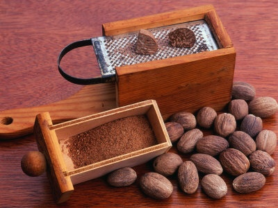 Nutmeg and Grater (Myristica Fragrans) by Reinhard