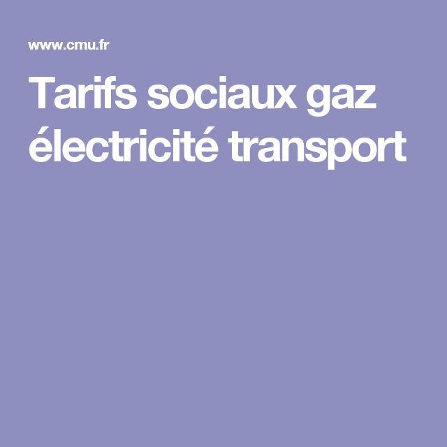 Tarifs sociaux gaz électricité transport