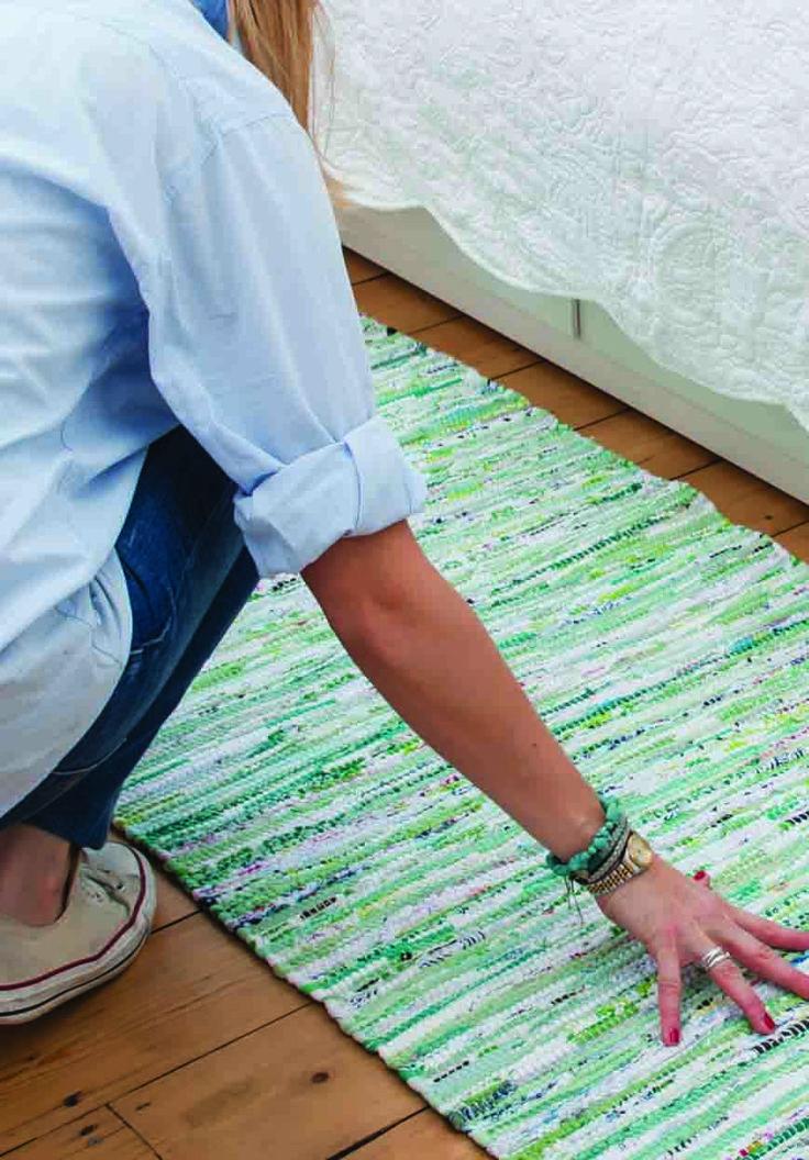 Green mix Scandinavian rag rug and hallway runner from Skandihome, home of Swedish and Scandinavian rugs and gifts